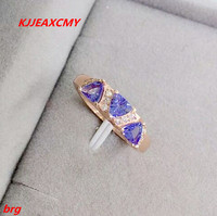KJJEAXCMY Fine jewelry 925 silver tanzanite women's natural ring 3a Tanzanine kind more beautiful