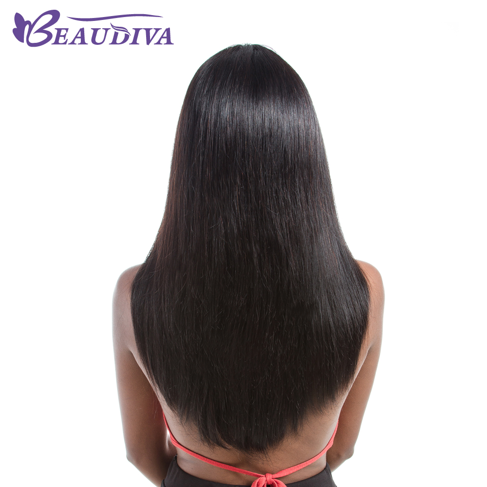 BEAUDIVA Lace Front Human Hair Wigs Straight Natural Color Hairline Brazilian Hair Lace Wigs For Black Women With Baby Hair