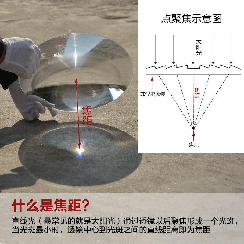 2 pièces 310mm Dia Grande Optique PMMA En Plastique Condensateur Solaire Fresnel Lentille Grande Solaire Condensation Lentille Focale 600mm Projecteur