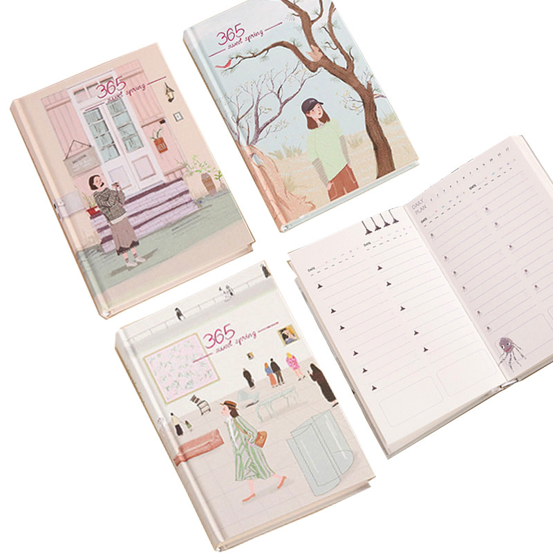 2019 Sweet Spring Planner Weekly Daily Plan Diary Book Notebook School Office Stationery Gift plan