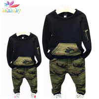Belababy Family Matching Outfits 2017 New Spring Kids Parents Camouflage Clothing Set Family Long Sleeve Clothes