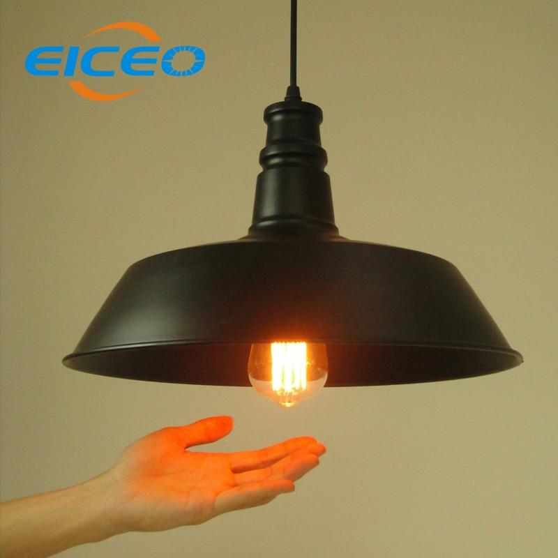 Pendant Lighting Manufacturers: (EICEO)Vintage Wrought Iron Lighting Restaurant Shade Lamp