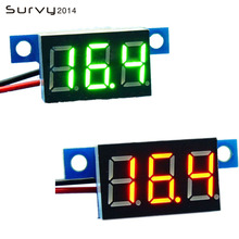 Mini Digital Voltmeter Voltage Tester Meter 0.36 Inch DC 3.3-30V LED Screen Electronic