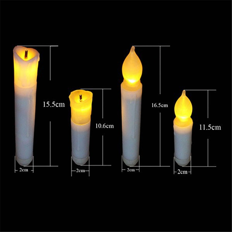 aliexpresscom buy 2015 yellow flicker flameless taper candles battery operated candlesticks long burn time portacandela for dinner restaurant from - Yellow Restaurant 2015