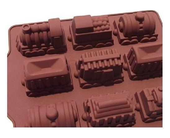 9 Hohlraume Zug Formen Silikon Backen Kuchen Form Chocalate Form Zug