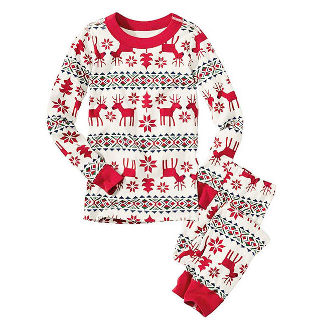 Christmas Family Pajamas Matching Clothes Family Look Sets