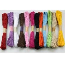 Home Garden - Festive  - 10 Pcs Per Lot Paper Rope String Cord Home Decoration Diameter 2mm Length 30m Per Pc