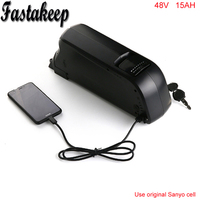 Electric bike Battery 48v 15ah li ion battery with  18650 cells for Bafang 8fun 48v 750w ebike motor