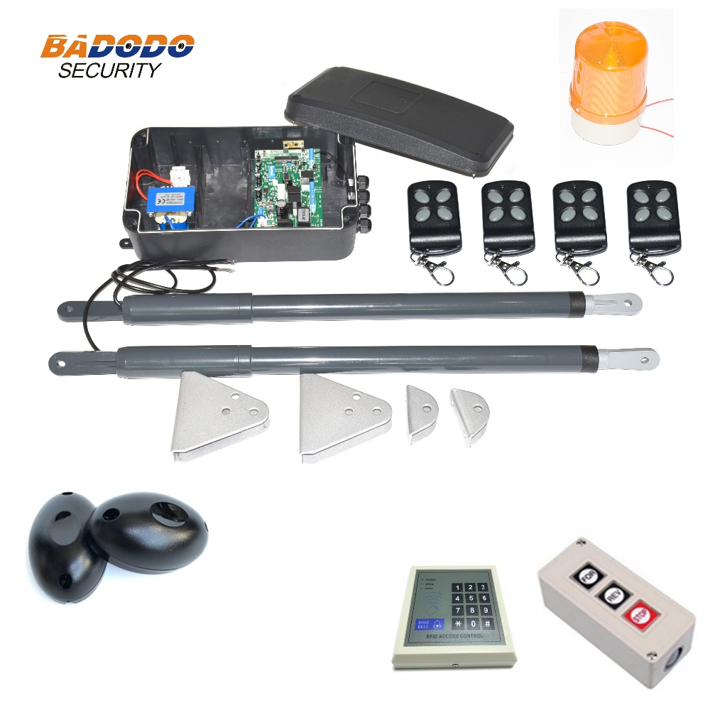Image 5 - 200KG Automatic dual arms electric swing door gate Opener Operator Motor actuator closer swing gate opener for access control-in Access Control Kits from Security & Protection