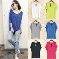 Summer new large size women T-shirt modal Korean fat MM loose bat sleeve shirt shirt female static color