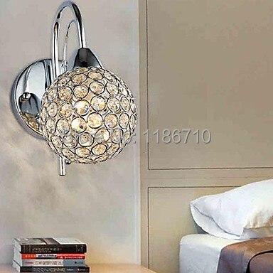 Нержавеющаясталь покрытие современный настенный светильник золотой кристалл настенный светильник в 1 содержит светодиодные лампы Беспла...