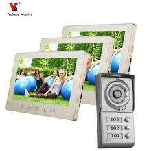 Yobang Security freeship 10-inch Villa entry door multi apartments video door phone Color Video Doorphone video Intercom Systems