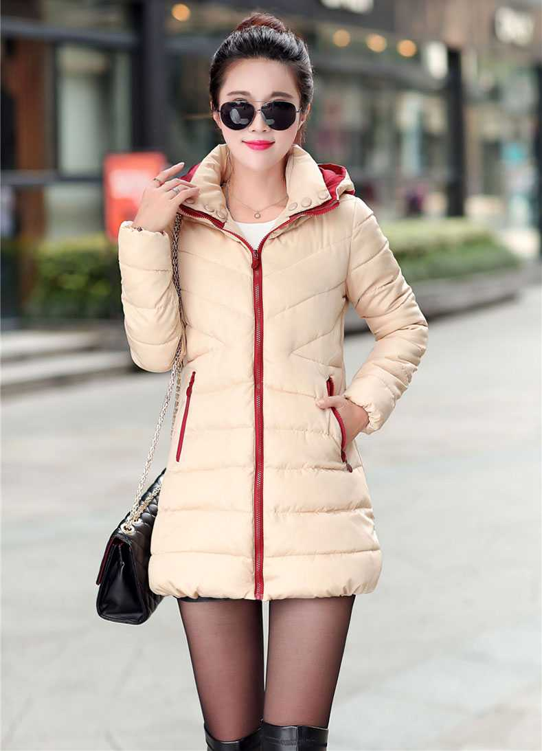 New Arrival Fashion Korean Winter Casual Slim Wadded Jacket Thicken Cotton Padded Down Zipper Hooded Collar Women Overcoat H4530 hooded collar korean new 2014 winter clothing full sleeve solid down jacket slim women casual cotton padded coat ly1066