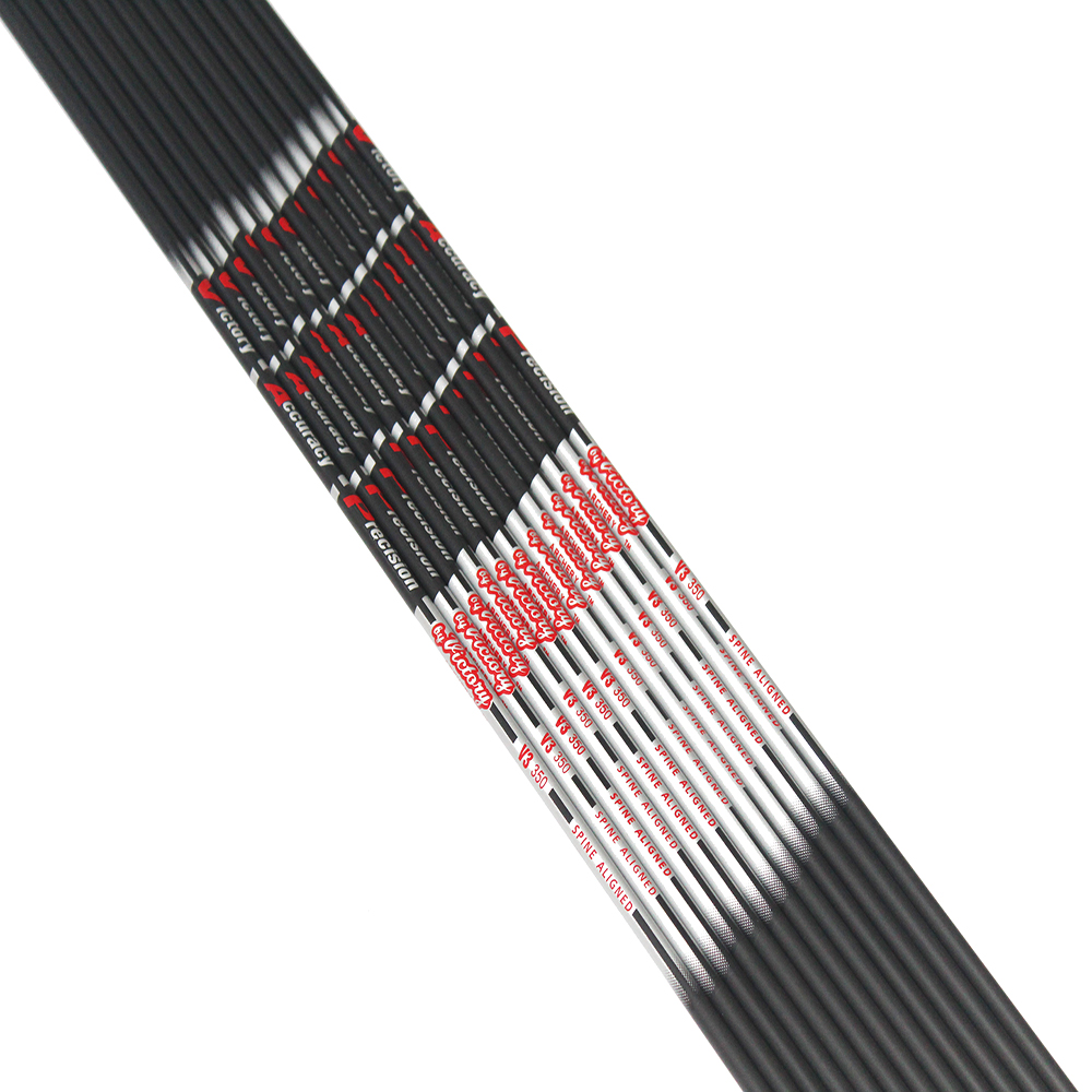 12pcs carbon arrow shaft spine350-900 ID4.2mm OD5.6 for DIY recurve bow archery