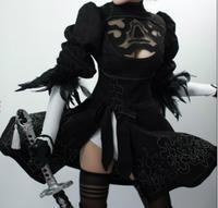 NieR:Automata Game heroine 2B Black Dress cosplay Costume Free Shipping costume made