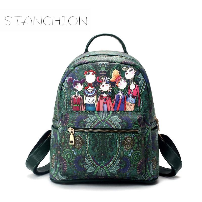 Backpack Women Mochila Feminina Faux Leather Preppy Style Escolar Rucksack School Bags Teenagers Sac Shoulder Bags