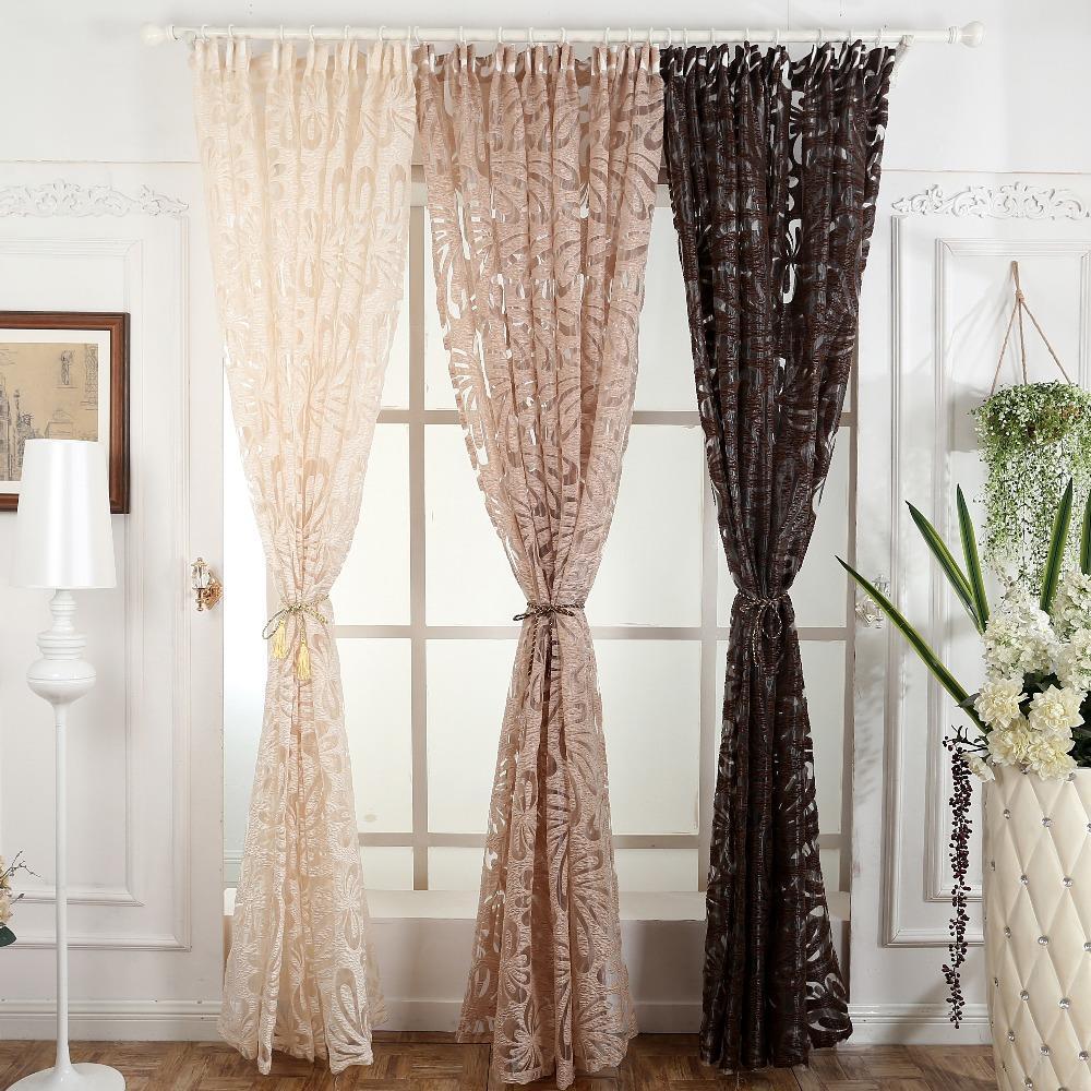 Modern Fashion Curtain Panel Decorative Curtains Jacquard