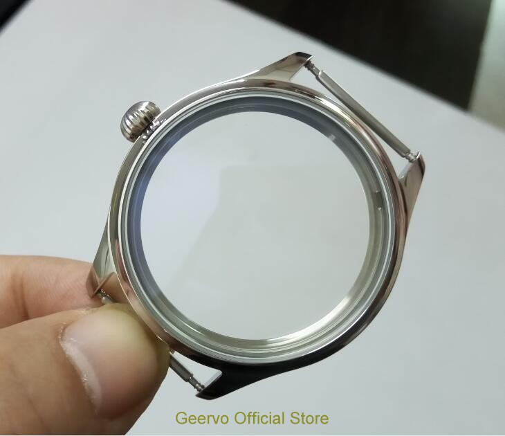 44mm High Quality  316L Stainless Steel  Watch Cases   Fit  6497/6498 Mechanical Hand Wind Movement 01A