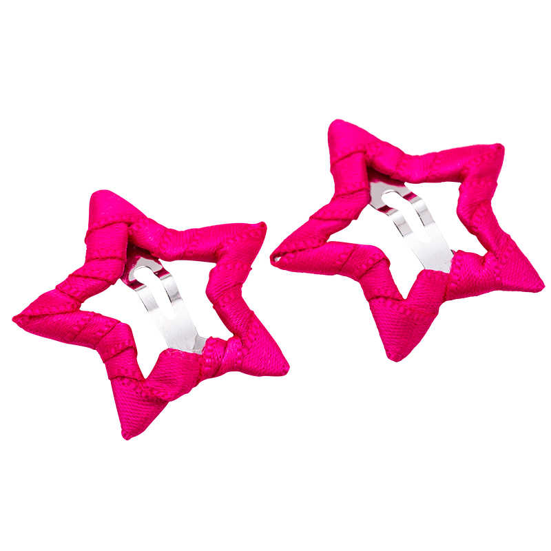 bb468e585c9 ... 2PCS Lot Cute Girls Candy Colors Star Safety HairPins Children  Hairgrips Baby Hair Clips Headband