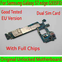 Оригинальный разблокирована для samsung Galaxy S7 край G935FD материнской ЕС версия, Две сим-карты для samsung S7 G935FD плата пластины