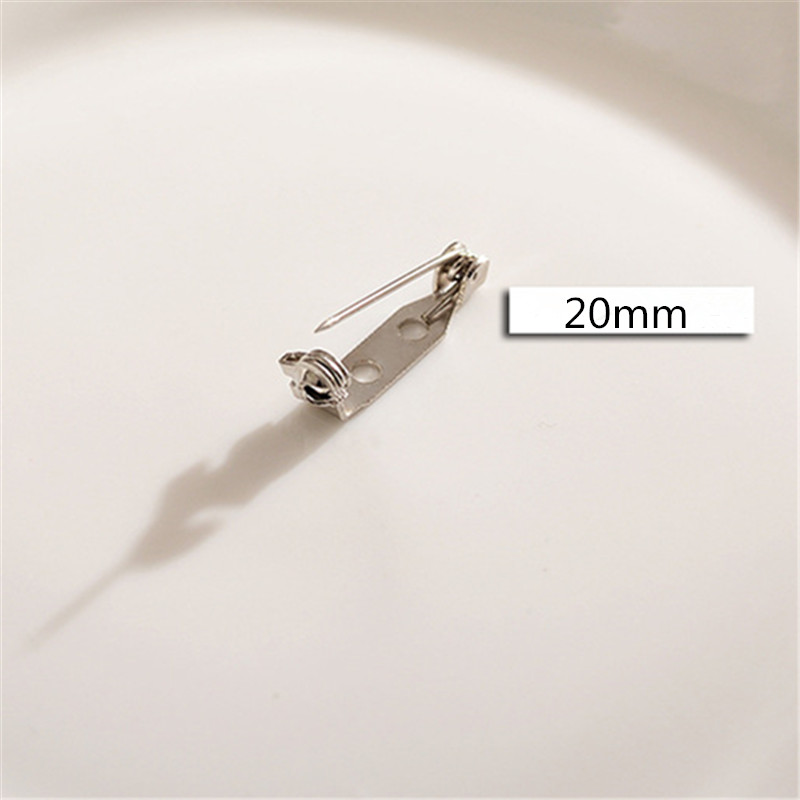 1000pcs  20mm High  quality  Clasp Back Pins for Crafts w/locking Safety Clasp-in Jewelry Findings & Components from Jewelry & Accessories    3