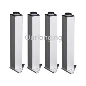 4PCS 180mm Adjustable Triangle Base Silver Aluminum Alloy Furniture Legs Cabinet Sofa Feet