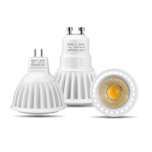 Aluminum GU10 LED Spot Light AC 220V 110V MR16 GU5.3 LED Bulb AC DC 12V LED Light 3W 5W 7W Dimmable COB LED Spotlight Indoor(China)