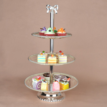 Fashion cake pan cake stand wedding cake pallet double layer fruit tray afternoon tea pastry plate