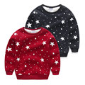 Kids T Shirt 2016 winter Cotton fleece baby boys clothing kids plus velvet thickening Long Sleeve sweatshirt outerwear