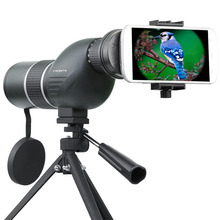 Professional Bird Watching Scope Monocular Zoom Spyglass Telescope Straight/Angled Spotting Scope Landscape Camping with Tripod стоимость