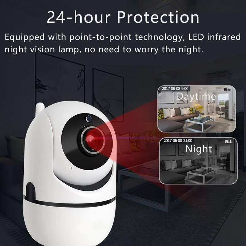 Wireless IP Camera Baby Monitor Home Security Camera 1080P 720P Night Vision Auto Tracking Network Wifi Camera Baby Camera in Baby Monitors from Security Protection