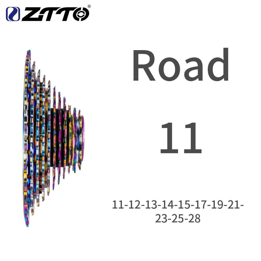 Ztto 11 velocidade shifter groupset 11s 28 t sivler/arco-íris k7 estrada bicicleta grupo conjunto shifter traseiro desviador hg 11 v hubbody compatível