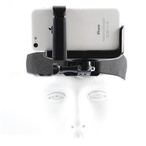 Image 2 - Montagem da correia da cabeça de gopro com grampo do telefone/suporte para o iphone huawei samsung para escalada/esqui/ciclismo esportes 360 graus girados