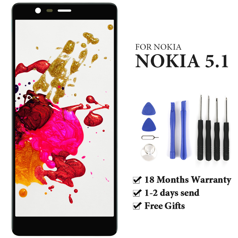 5.5 inch Replacement LCD For Nokia 5.1 Screen 1pc Digitizer For OEM Quality Phone Parts Assembly For Nokia 5.1 Display