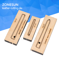 ZONESUN 14 12 Customized leather cutting die Leather DIY Craft supply watchband strap Wooden Template Punching Cutting Mould