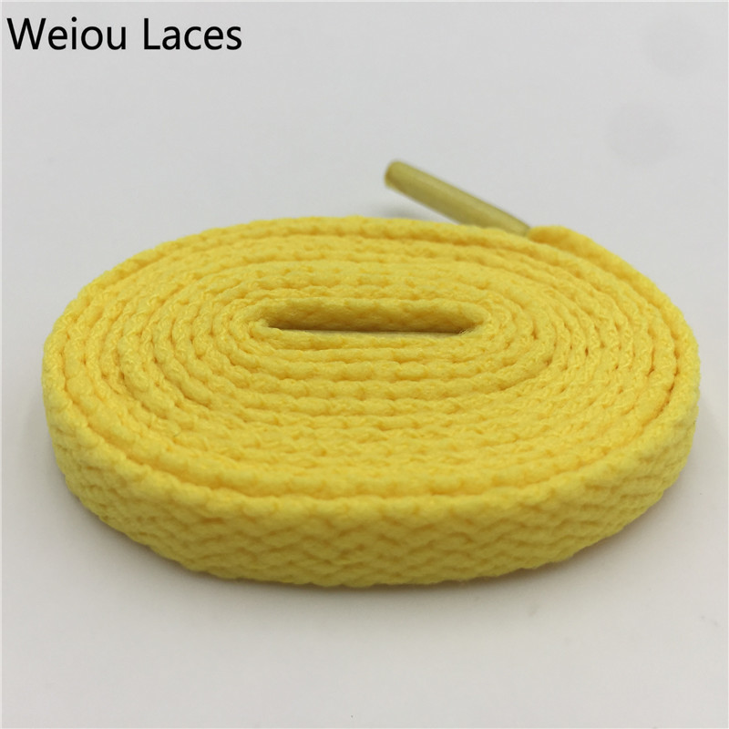 Weiou High Quality 8mm Polyester Fashion Sports Casual Shoe Lace Solid Single Layer Flat Sneakers Shoelace Amazing 47 Colors