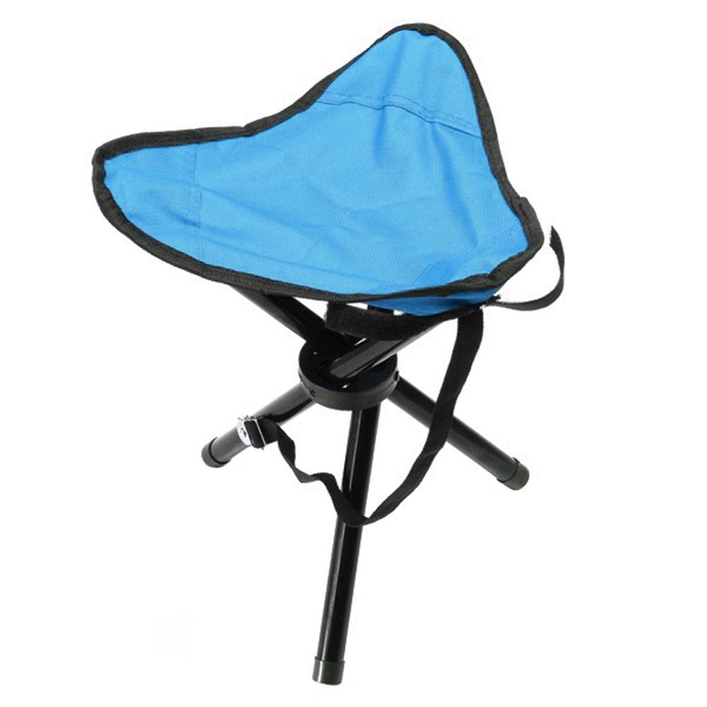 New Camping Fishing Travel Foldable Tripod Folding Seat Stool Chair Portable USA