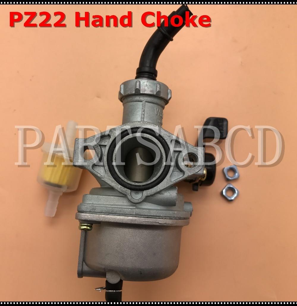 US $9 99 |PZ22 Carburetor 22mm Intake Carb Hand Choke 110CC 125CC ATV Quad  Dirt Bike Go Kart Parts-in ATV Parts & Accessories from Automobiles &