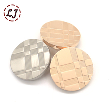 High quality 10pcs/lot new fashion decorative buttons gold plane Lattices metal sewing button for women men overcoat shirt DIY