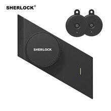 Sherlock отличного качества S2 отпечатков пальцев + пароль, электронный дверной замок добавьте 2 шт. Ключи Электрический Умный Замок Bluetooth Беспроводной APP телефона Управление