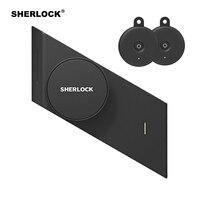 Sherlock S2 Parmak İzi + Şifre elektronik dış kapı kilidi Ekle 2 Adet Elektrikli Akıllı Kilit Bluetooth Kablosuz APP Telefon Kontrolü