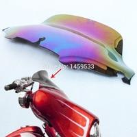 8 Windshield Blooming Smoke Wave Windscreen For 96 13 Harley Electra Glide UltraClassic Street Glide