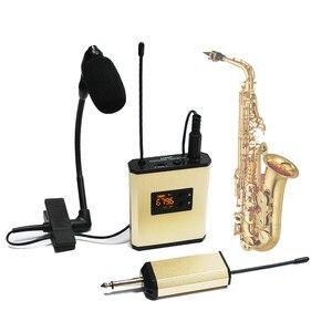 Beta98HC E908 E608 саксофон Беспроводная микрофонная система UHF передатчик + приемник труба инструмент для перезарядки латунный зажим микрофон