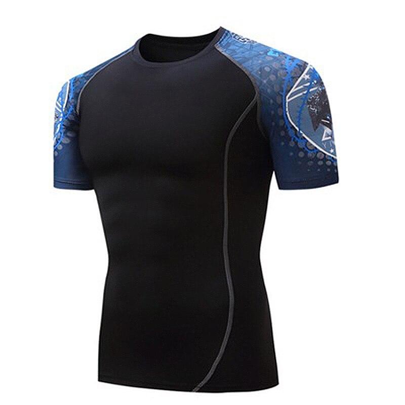 2018 YD Custom Logo Mens Compression Tight Shirts Quick Dry Running T shirt Men Cool O-Neck Mens T shirt Soccer Jersey Rashgard ...