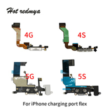 все цены на charging port USB Dock Connector replacement For iPhone 4 4S 5 5C 5s 5se USB Charger Port Dock microphone Mic Flex Cable онлайн