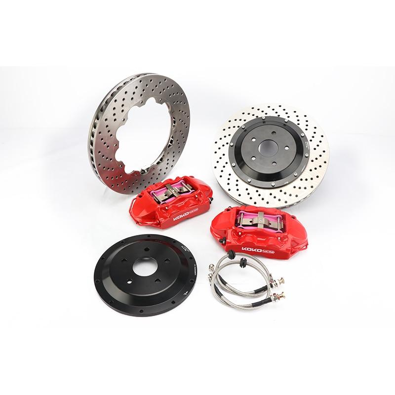 KOKO RACING racing cars modified brake system GT4 brake caliper big 4 pot for front wheel 18inches for 2012 X5 E70 (iDrive 35i)