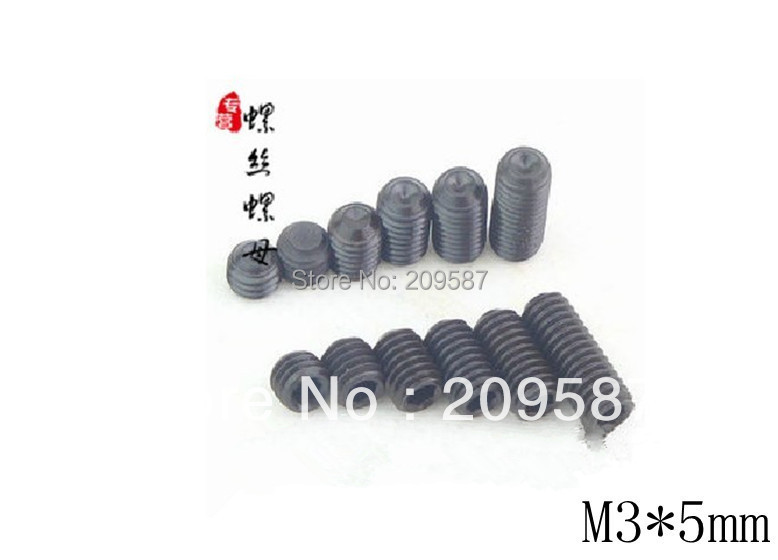 Lot100 <font><b>M3x5mm</b></font> Head Hex Socket Set Grub Screws Metric Threaded Cup Point image