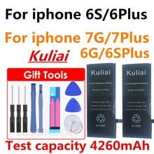 Nowa duża pojemność 4800MA bateria litowa do Apple iPhone 6 S 6 7 5S 5 baterii wbudowany baterii telefonu + darmowe narzędzia