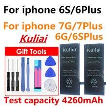 Nuevo gran capacidad de 4800MA de la batería de litio para Apple iPhone 6 6 S 7 5S 5 de reemplazo de la batería incorporada de la batería del teléfono + herramientas libres