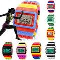 Unisex Colorido Bloco Estilo Tijolo Relógio Do Esporte Casual Moda Digital LED relógio de Pulso